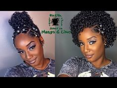 Natural Hairstyle w Jewels   Rubber Band for Holidays  0d89f5daccd