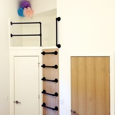 Kid's Loft. Gas pipe ladder. http://www.mazzie.ca Toronto Canada