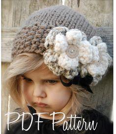Knitting PATTERN-The Babette Slouchy Toddler por Thevelvetacorn
