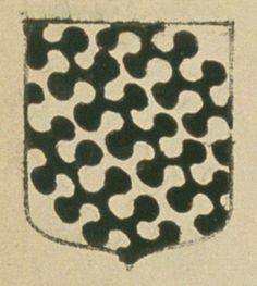Charles DE MARIN, escuier, sieur de Sarroux. Porte : d'argent, à trois bandes ondées, entées de sable | N° 51