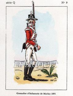 Granatiere della fanteria di marina inglese