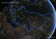 The final route.  !8,250 miles from here to there and back