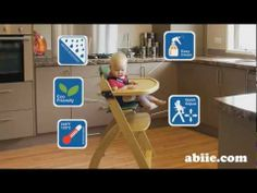 The Beyond junior baby high chair comes with several easy access points for parents to clean and maintain the seat. Shop affordable and eco friendly baby high chair at Abiie.