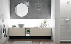 Disposizione bagno ~ Progetto anche in bagno gli stessi materiali di cucina e living