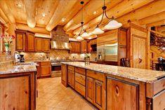 Bright log house kitchen :)