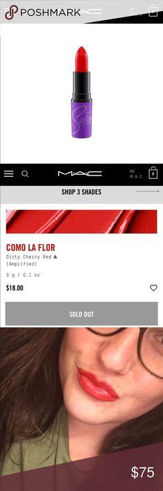 Selena Como La Flor Lipstick Lipstick only. This shade only (Como La Flor). Brand new. Still in box. Never used. MAC Cosmetics Makeup Lipstick