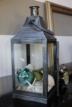 Christmas Lantern: Great idea on what to do with my lanterns
