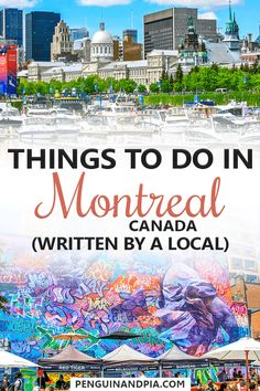 Looking for things to do in Montreal Canada? In this guide a local shares her tips for visiting the biggest city in Quebec! From the beautiful Old Montreal to foods you should try there is something for everyone! Travel Tips Travel Hacks packing tour Quebec Montreal, Montreal Travel, Old Montreal, Montreal Ville, Montreal Canada, Quebec City, Alberta Canada, Canada Vancouver, Ottawa Canada