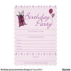 Birthday Party Invitation Design Free Printable Invitations Templates Printables