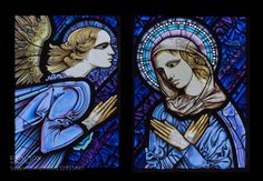 Annuntiation.Stained glass. - Pinned by Mak Khalaf Stained glass representing the Annuntianion.Cathedral of PalenciaCastilla Spain. Fine Art ChristmasMaryNativityStained glassangelarchitecturebluecathedralchristianchristianitychurcheuropereligionAnnuntiationvirail by Tramont_ana