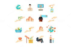 Charity icons set  @creativework247