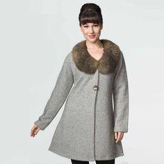8c64972720b Possumdown Merino - Possum Tweed Coat with Fur Collar