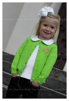 Monogrammed sweater--so so sweet! My child will have big bows and monogrammed clothes! Future Daughter, Future Baby, My Baby Girl, Baby Love, Embroidery Monogram, Couture, Cute Kids, Baby Kids, Little Girls