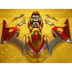 Yamaha YZF-R6 2003-2004 Injection ABS Fairing - Others - Gray/Red | $639.00