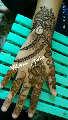 Henna Hand Designs, Mehndi Designs Finger, Rose Mehndi Designs, Simple Arabic Mehndi Designs, Mehndi Designs 2018, Mehndi Designs For Girls, Modern Mehndi Designs, Wedding Mehndi Designs, Mehndi Designs For Fingers