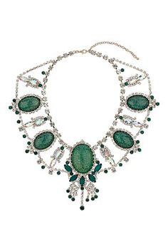 Emerald is the most sophisticated winter color - Premium Emerald and Crystal Collar from Topshop #DearTopshop