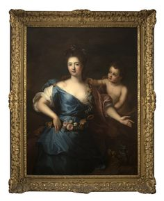 Portrait of a seated lady of nobility, unsigned, oil on canvas laid to canvas…