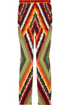 Peter Pilotto|Eli printed stretch-crepe skinny pants|NET-A-PORTER.COM