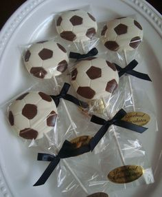 12 Chocolate Soccer  Lollipops Sports Party by rosebudchocolates