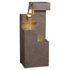 Sand Stone Cascade Tires Outdoor/Indoor Lighted Fountain | Modern water fountain | Garden Decor Ideas | Outdoor water fountain