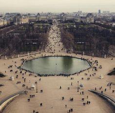Paris, Jardin des Tuileries, Louvre