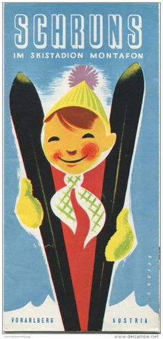 Österreich - Vorarlberg - Schruns 1962 - Faltblatt mit 15 Abbildungen - Titelbild J. Hofer - beiliegend Gaststättenliste