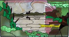 'De Noordse Plas'  Tiffany, 140 pieces, 43 x 80 , Noorden (ZH)