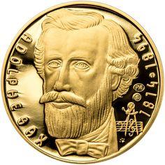 ADOLPHE SAX - 200. VÝROČÍ NAROZENÍ ZLATO Adolphe Sax, Drawing, Line Art, Coins, Personalized Items, Future, Health, Musica, Coining