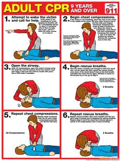 Here's an outline of what Adult CPR looks like. Keep yourself informed and possibly save someone's life! #WellnessWednesday