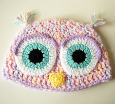 ❤  SALE in Keiara's Etsy Shop, Use Coupon Code: TOUGHTIMES for 20% Discount! =D)  Fluffy Owl Crochet Hat 12 Months to 2T Size by keiara by bykeiara, $19.50