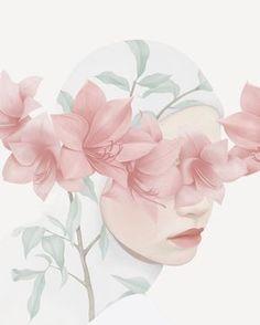 this isn't happiness™ (Flora and fauna, Hsiao-Ron Cheng), Peteski, Winx Club Art And Illustration, Art Anime, Anime Art Girl, Cartoon Kunst, Cartoon Art, Moslem, Hijab Drawing, Flora Und Fauna, Islamic Cartoon