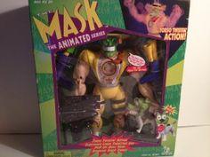 1997 The MASK 12� Torso Twistin Talking Animated Series Action Figure Plus Super Milo Mask ~ SOLD