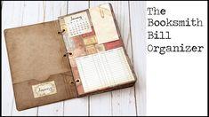 Booksmith Bill Organizer - craft with me!