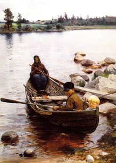 Savolaisvene by Eero Järnefelt Finland Helene Schjerfbeck, Scandinavian Art, Scandinavian Paintings, Nordic Art, Art Database, Paintings I Love, Water Crafts, Les Oeuvres, Art History