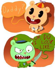 Happy Tree Friends Flippy, Happy Friends, Friend Cartoon, Friend Anime, Animal Crossing Fan Art, Boyfriend Games, Creepy Images, Creepy Guy, Fandoms