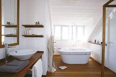 7 idees de salle de bains lambris