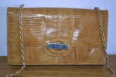 Handmade, Vintage - Pixalia - haine si accesorii faine: REDUCERE !!! Geanta / Plic din piele de soparla