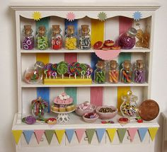 Miniature Food - Dollhouse Candy Cabinet #2 by PetitPlat - Stephanie Kilgast, via Flickr
