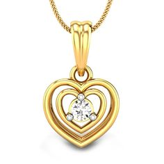 You will find both your hearts entangled within each other; and a tiny pretty diamond in the center of your entangled love. #ValentineJewellery #DiamondPendant #LovelyJewellery #Sweetheart #PrettyJewellery #LovePendant #CutePendant
