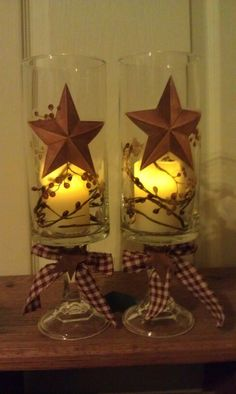 Hurricane lamps made from dollar store items - Crafting Journal