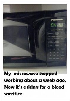 funny microwave problems: wrong signal.