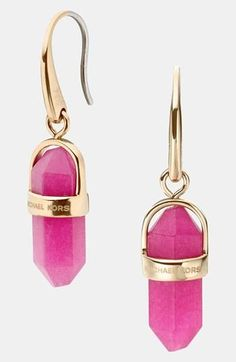 Need these! Michael Kors Stone Drop Earrings
