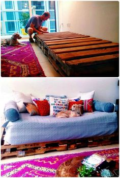 pallet shelves projects Pallet Couch Step-by-Step - Pallet Sofa - 21 DIY Pallet Sofa Plans - Page 10 of 10 - DIY Wooden Pallet Projects, Wooden Pallet Furniture, Diy Furniture Plans, Wooden Pallets, Furniture Projects, Pallet Ideas, Steel Furniture, Buy Pallets, Plastic Pallets