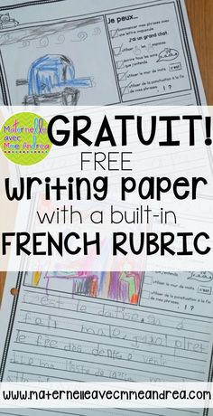 "FRENCH Freebie – Papier d'écriture avec phrases ""Je peux"" en français FREE French writing paper, with a rubric built right in! Students will check to make sure they use correct capitalization, punctuation, spaces, and word wall words. French Teaching Resources, Teaching French, Teaching Ideas, Teaching Reading, Teacher Resources, French Lessons, Spanish Lessons, Poetry Lessons, Core French"