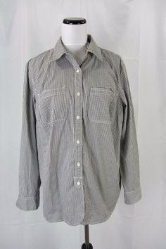Ralph Lauren Jeans Co. LRL Black Gingham Check Plus Shirt Blouse size 1X #RalphLauren #Blouse #Casual