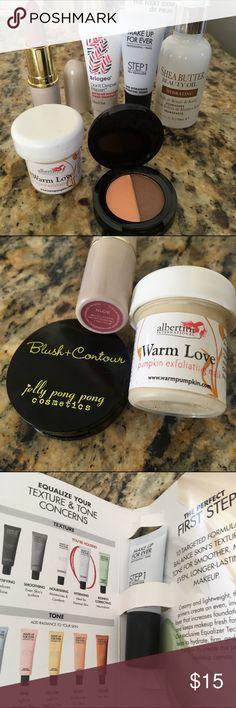 Beauty Basics Make Up For Ever, Mellow Cosmetics Beauty Basics 6 piece Bundle Primer, Oil, Pumpkin Mask, Lipstick, Skin Treatment, Blush & Contour. Makeup Forever Makeup Eye Primer