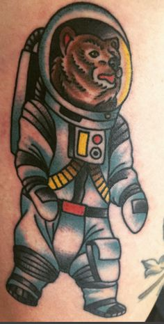 """Space Bear Says """"We're Going to Live Forever."""" By Jason Donahue Idle Hand San Francisco."""
