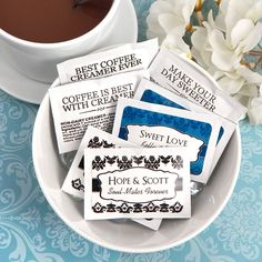 Personalized Creamer or Sugar Packets (100 Count)