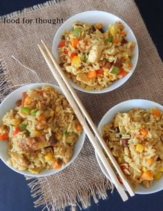 Food for thought: Chinese fried rice-- Food for thought: Chinese fried rice Greek Recipes, Rice Recipes, Meat Recipes, Asian Recipes, Cooking Recipes, Ethnic Recipes, Asian Kitchen, Pasta, Spaghetti Recipes