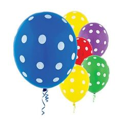 Polka dot balloons in rainbow colors